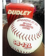 DUDLEY SOFTBALL Cork Center Leather SB 12LRF NOS White w/ Red stitch - $8.86