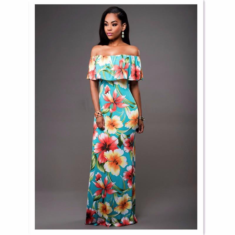 Ruffle Off Shoulder Maxi Dress At Bling Brides Bouquet Online Bridal Store image 7