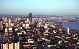 Seattle Washington Aerial View Aug 1970 ORIGINAL EKTACHROME SLIDE - $6.50