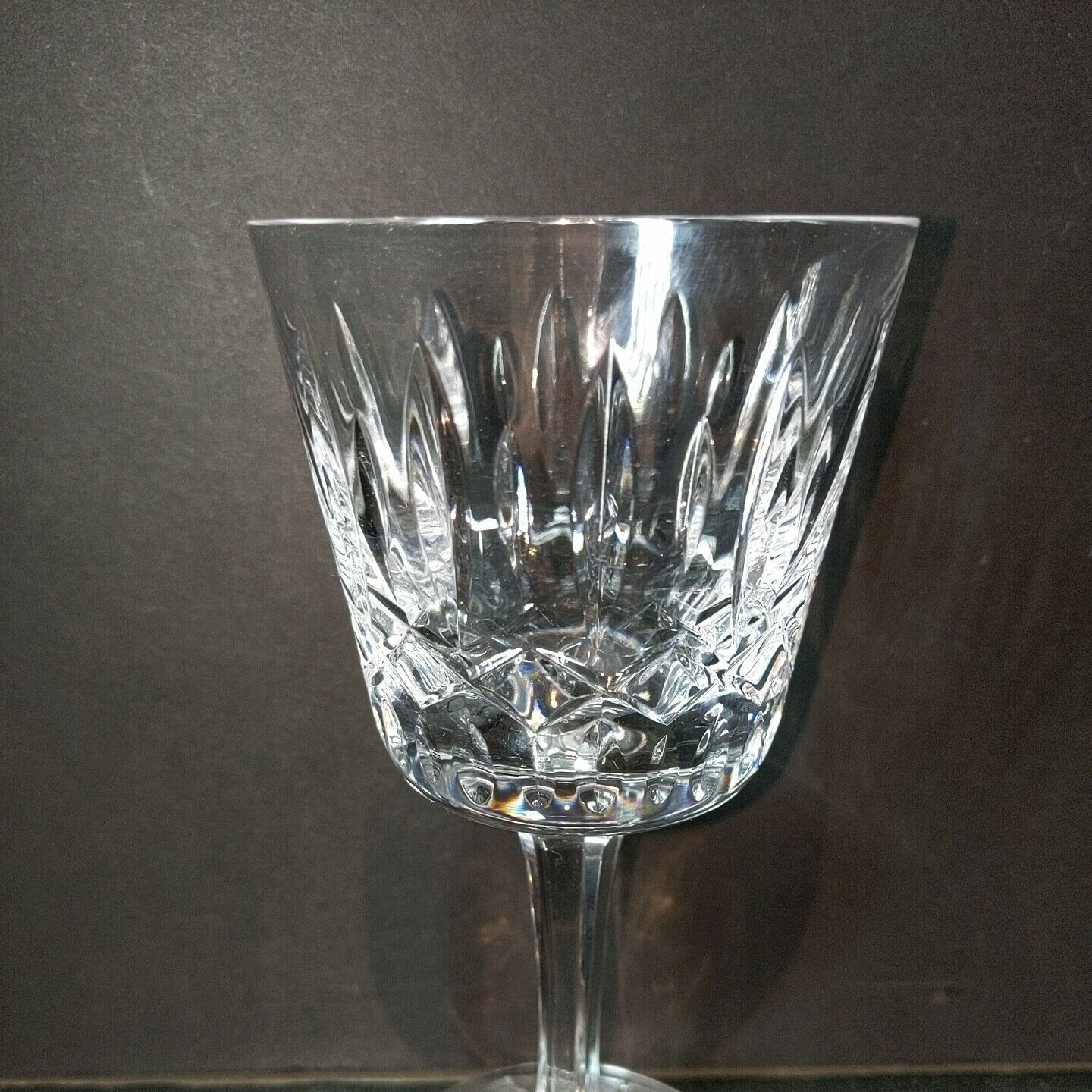 16 pc ATLANTIS Heavy Cut Lead Crystal FATIMA 8 Water & 8 Wine Goblets image 8