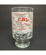 Vintage Large CBer's Beer Glass Clear With CBers sayings - $11.39