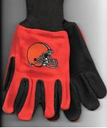 Cleveland Browns team Sport Utility Gloves orange brown garden NFL Footb... - $17.77
