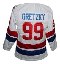 Wayne Gretzky #99 Wha Retro Hockey Jersey New White Any Size image 2
