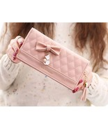 [Bag] Lovely Lady Cat with Bow Long Wallet/Purse/Clutch for Girl/Woman Gift - $18.29