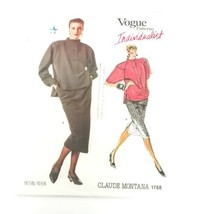 Vogue Pattern 1768 Sewing Claude Montana Skirt Top Size 8 Individualist ... - $17.70