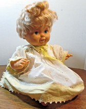 "Vintage 1989 Ideal Tiny Tears Blue eyed Baby Doll 15"" Strawberry Blonde ... - $24.75"
