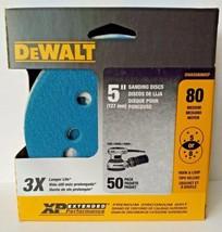"""Dewalt DWAS58080CP 5"""" 80 Grit Zirconium Sanding Discs H&L 5 or 8 Hole 50 Pack - $11.88"""