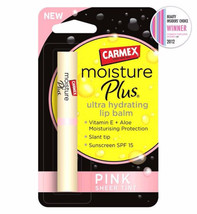Carmex Moisture Plus Ultra Hydrating Lip Balm Pink Sheer Tint SPF15 2g - $11.49