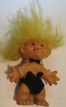 "Vintage Unmarked PLAYBOY BUNNY Troll doll with yellow hair 6"" - $39.99"