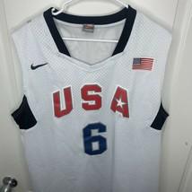 USA Basketball Olympic Beijing 2008 #6 LeBron James Nike Jersey XXL - $69.29