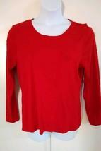 Charter Club Women's Long Sleeve Crew Neck Ravishing Red Top Size XXL - $20.56
