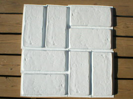 SIX 6x12 DIY RUSTIC CONCRETE BRICK MOLDS MAKE BRICK VENEER WALL TILE FOR PENNIES image 2