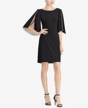 American Living Dress Black Split-Sleeve Contrast Shift Dress 2 4 8 10 1... - $39.93