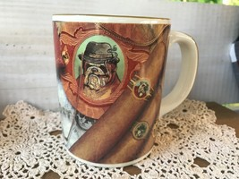 Vtg Russ Berrie Co. Bulldog Cigars Coffee Mug Tea Cup Pocket Watch Eyegl... - $12.50