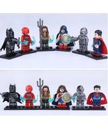 6pcs/set Justice League Batman Wonder Woman Superman Cyborg Aquaman Flas... - $12.00