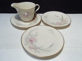 4 Pieces Lenox Heiress ~~ Creamer & 3 saucers - $12.95