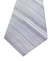 New Calvin Klein Stripe Purple Silk Linen Neck Tie - $13.85