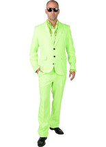 Mr Green  - Fluorescent  Suit + Tie  - $45.39
