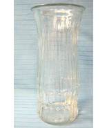 EO Brody Co. Vase Crystal Clear Pressed Glass Vintage Large Container - $28.97