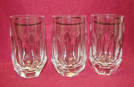 "Set Of Three (3) Gorham Cut Crystal - Alexandra Pattern - 4 1/2"" Flat Tumblers - $39.95"