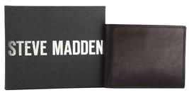 NEW STEVE MADDEN MEN'S PREMIUM LEATHER CREDIT CARD WALLET BROWN N80005/01 image 2