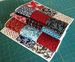 "Quilt Table Runner -- Moda Be Jolly Holiday Fabric 13 3/4"" x 40"" - $29.65"