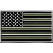 United States American Flag Subdue Belt Buckle - $18.80