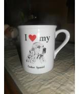 Papel Mug OR Cup I (HEART) MY COCKER SPANIEL..STRAND ENTERPRISES FOR PAP... - $10.15