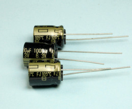 10pc Panasonic FJ 1000uF 6.3v 105C Radial Electrolytic Capacitor Low ESR 10X12mm - $5.61