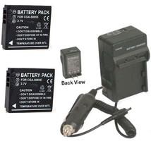 Two Batteries + Charger For Panasonic DMC-FX9EF-S DMC-FX10 DMC-FX10A DMC-FX10P - $26.97