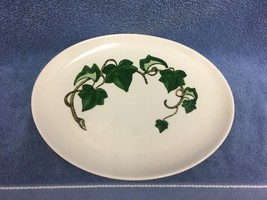 Poppytrail by Metlox Ivy Oval Serving Platter 1950's USA Hand Painted Vi... - $23.36