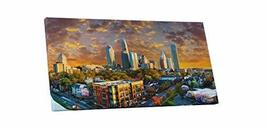 """Pingo World 0707Q4YM5IS """"Charlotte Sunset Skyline Panoramic"""" Gallery Wrapped Can - $138.55"""