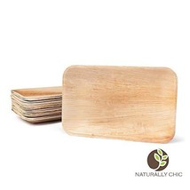 Naturally Chic Compostable Biodegradable Disposable Plates - Palm Leaf 9... - $26.52