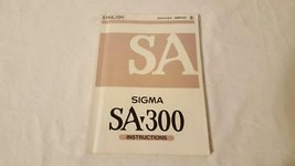 VINTAGE SIGMA CAMERA SA-300 INSTRUCTION MANUAL,ENGLISH,74PGS,GREAT CONDI... - $4.94