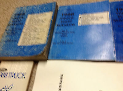 1988 OEM Ford MEDIUM & HEAVY TRUCK F B C Service Shop Repair Manual Set W EWD +