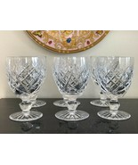 Waterford Crystal Donegal Cut Water Goblet Glasses Set of 6 - $225.00