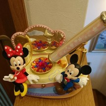 Disney Mickey Minnie Figure Music Box Kaleidoscope Ornament Japan - $88.11