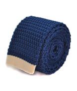 Frederick Thomas blu navy aderente maglia cravatta con AVORIO CREMA estr... - $24.46