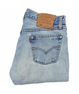 Vintage Levi's 501 Original Button Fly Jeans 30 x 37 Made in USA Distres... - $69.99