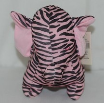 Baby Ganz Brand BG3192 Pink Black Zebra Print Ooh La La Plush Elephant image 2