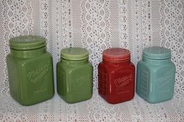 Vintage Farmhouse Style Ceramic Mason Crafts & More Storage Jar Canister... - $18.99