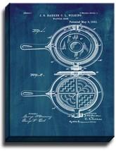 Waffle Iron Patent Print Midnight Blue on Canvas - $39.95+