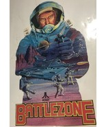Vintage Atari store advertising SIGN 1982 unpunched BATTLEZONE game - $23.36