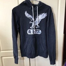 American Eagle Athletic Fit Xs Blue Pull Over Hoodie Sweatshirt - $14.95