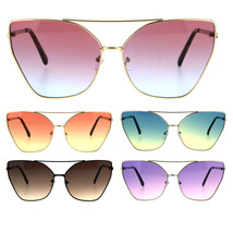 Womens Color Oceanic Gradient Metal Cat Eye Gothic Sunglasses - $9.95