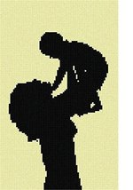 pepita Mother and Baby Needlepoint Canvas - $50.00