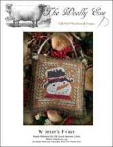 Winter's Frost snowman christmas cross stitch chart The Wooley Ewe  - $6.00