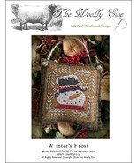 Winter's Frost snowman christmas cross stitch chart The Wooley Ewe  - $6.00