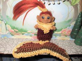 "MERMAID ROOTIE TROLL 3"" doll ooak vintage Dress Gown beach sexy autumn fall oran image 4"