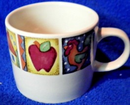 Gibson Patchwork Flag Apple Cup Mug Lovely Set of 3 - $17.35